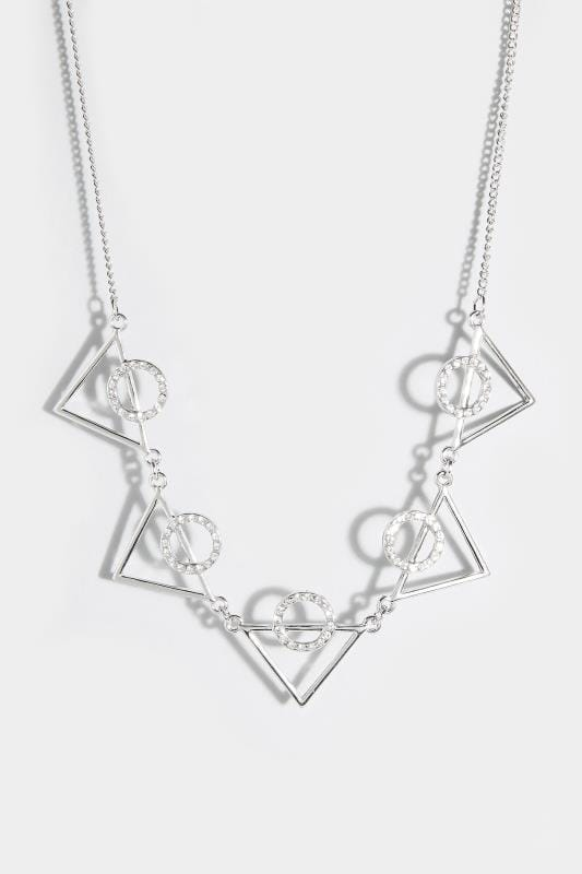 Plus Size Plus Size Jewellery Silver Triangle Necklace