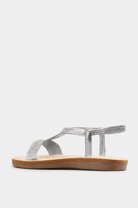 Silver Twist Diamante Sandals