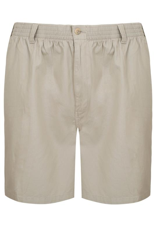 Stone Chino Shorts With Elasticated Waist Band