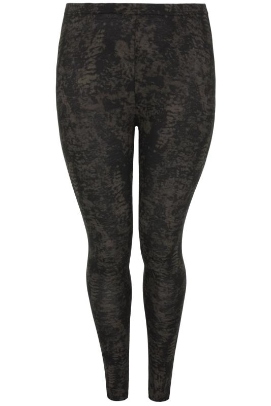 Stone Smudge Print Full Length Viscose Elastane Leggings