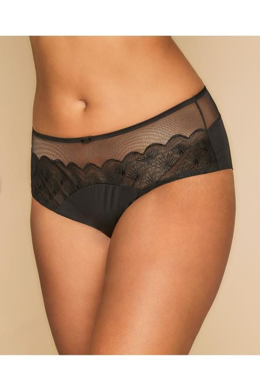 TRIUMPH Black Beauty-Full Grace Brief With Mesh Insert