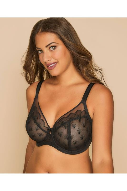Plus Size Wired Bras TRIUMPH Black Beauty-Full Underwired Grace Bra