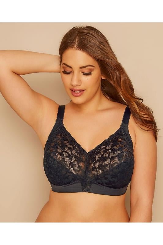 TRIUMPH Black Lace Non-Wired Delicate Doreen Bra