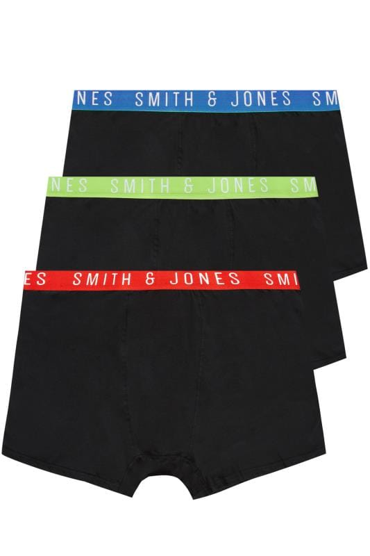 3 PACK SMITH & JONES Topster Elasticated A Front Boxers