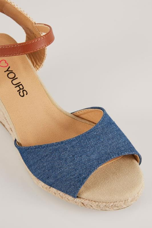 Two Part High Wedge Espadrille Sandal In EEE Fit