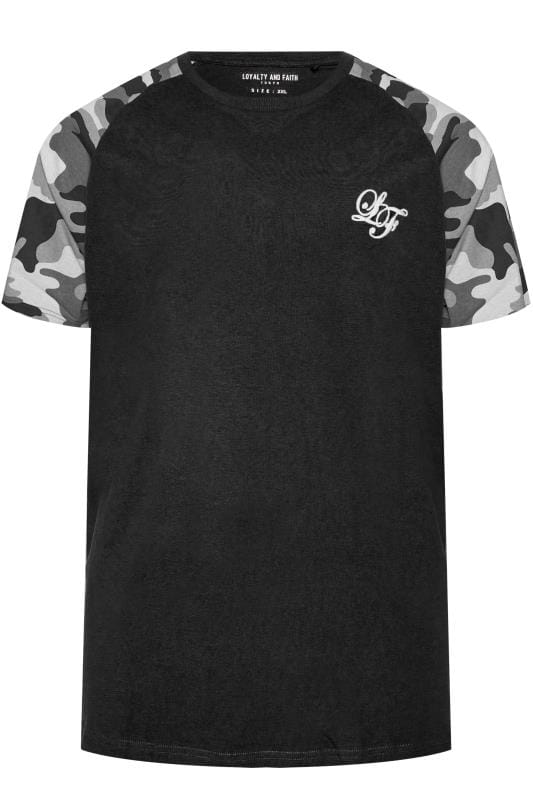 LOYALTY & FAITH Black Vendor Camo T-Shirt