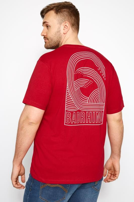 T-Shirts BadRhino Red Graphic Wave T-Shirt 201032