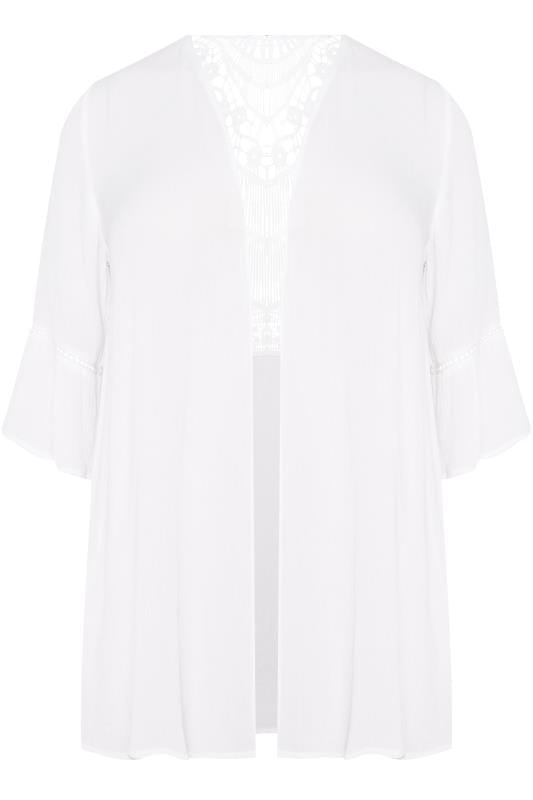 Plus Size Cover Ups White Crochet Cover Up