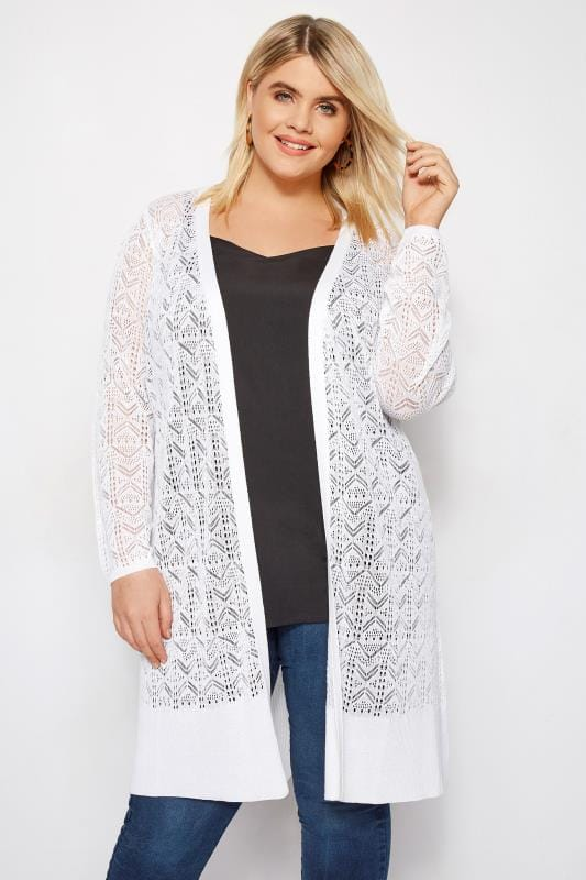 Plus Size Cardigans Long Waterfall Cardigans Yours Clothing