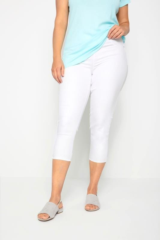 Jeggings Tallas Grandes Jeggings capri blancos JENNY