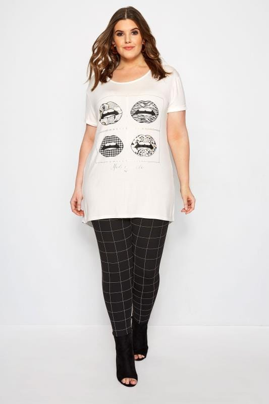 LIMITED COLLECTION White & Gold Foil Lip T-Shirt