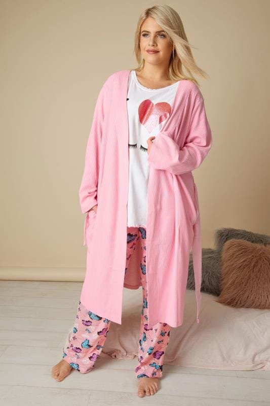 Wit 'I Love Sleep' pyjama shirt met glitter hart