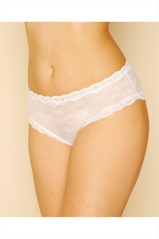 White Lace Mesh Brief
