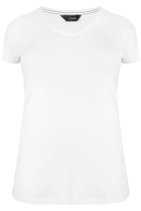 plus size white v