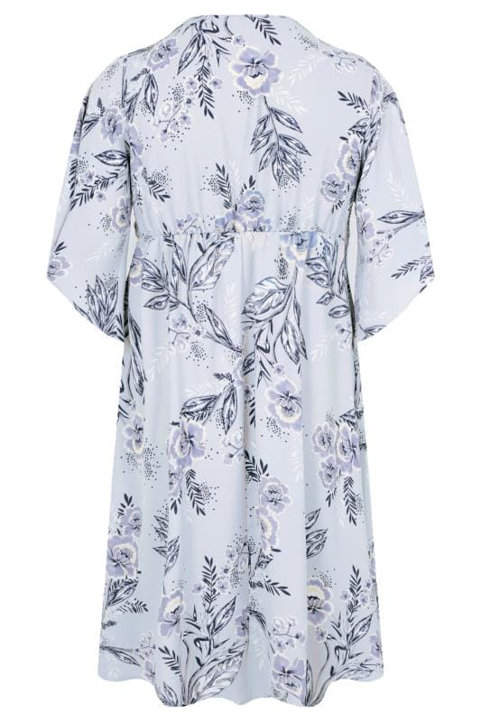 countries with the letter a yours light blue amp grey floral wrap dress with tie 20988