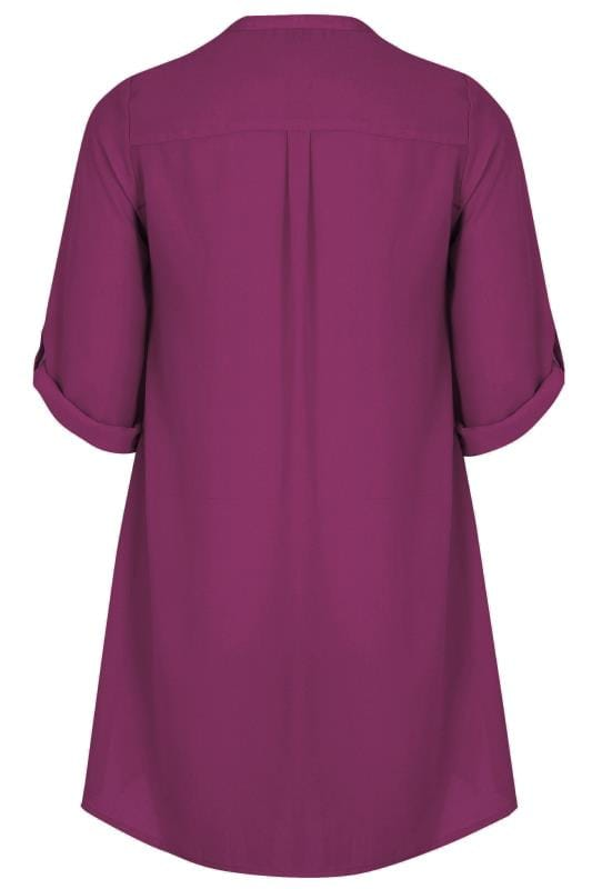 how to fill out a letter yours lila chiffonbluse mit satinsaum gro 223 e gr 246 223 en 22295 | YOURS LONDON Purple Chiffon Blouse With Satin Trim 156564 2042