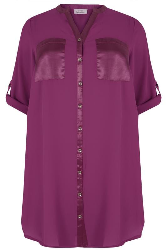 how to fill out a letter yours paarse chiffon satijnen blouse grote maten 22295 | YOURS LONDON Purple Chiffon Blouse With Satin Trim 156564 ed25