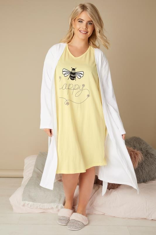 Yellow 'Bee Happy' Nightdress