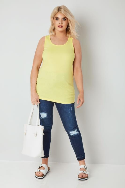 Yellow Cotton Vest Top