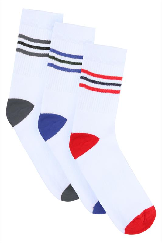 BadRhino White 3 Pack Sport Socks