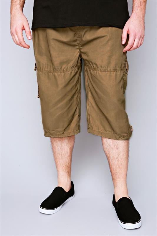 D555 Sand Cargo Shorts With Pockets
