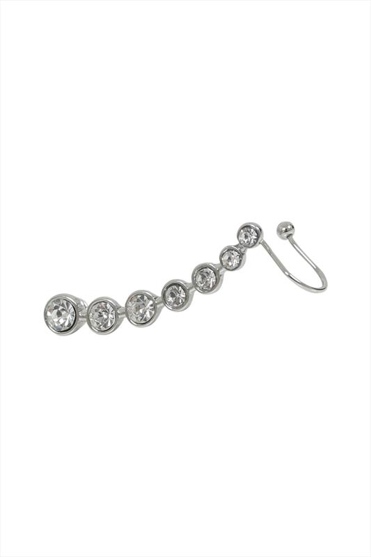 Silver Diamante Ear Cuff