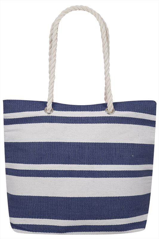 Nautical Navy and Cream Beach Bag QFbHagh5p