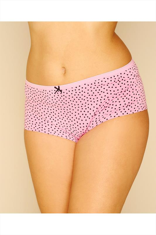 Slips 5 PACK Black, Pink, Mint, Purple & Teal Printed And Plain Shorts 056101