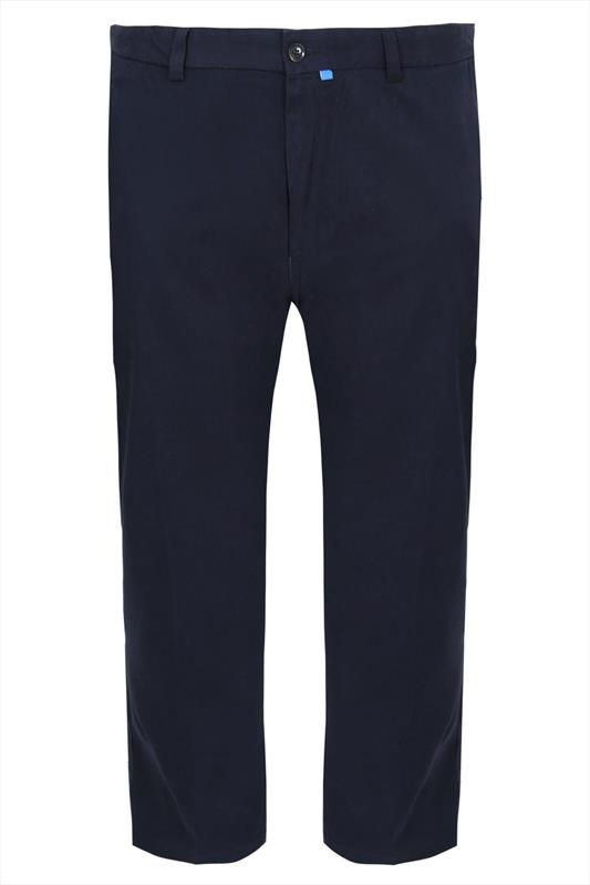 D555 Navy 4 Pocket Straight Leg Trousers