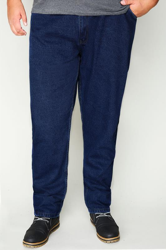 Rockford Dark Denim Blue 5 Pocket Jeans - TALL
