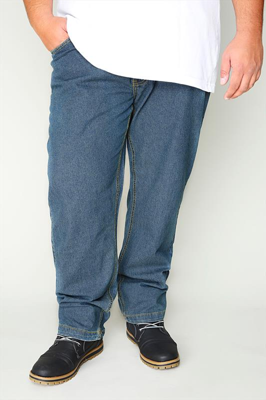 DUKE LONDON Blue Jeans With Elasticated Waist