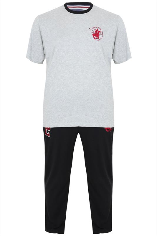 SANTA MONICA Grey & Black T-Shirt With Jogger Style Trousers