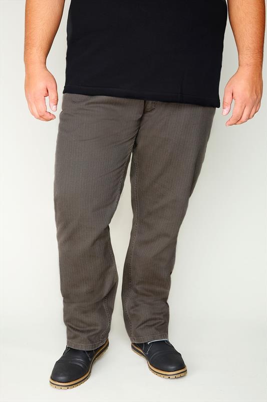 Duke Brown Cord Trousers With Belt