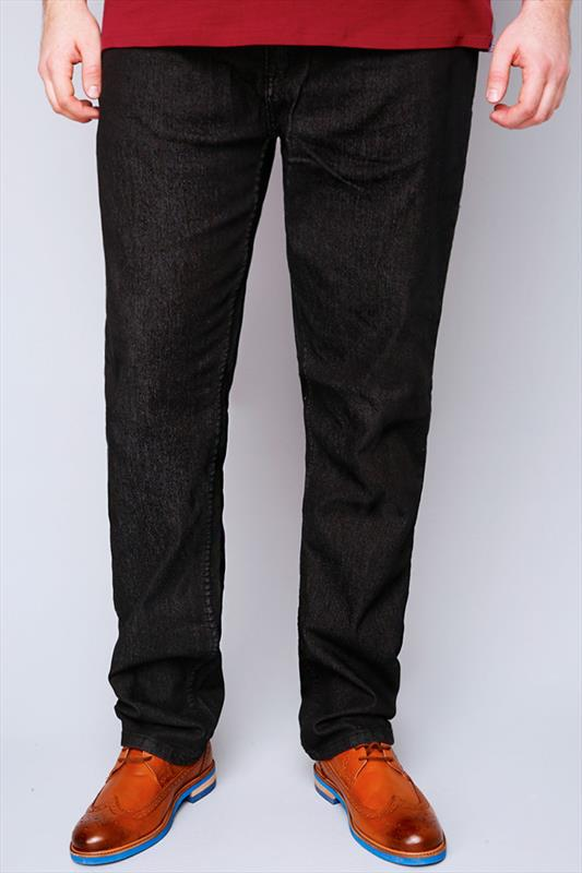 Rockford Black Comfort Fit Jeans - TALL