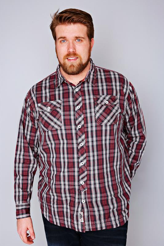 D555 Red & Navy Checked Fully Lined Shirt