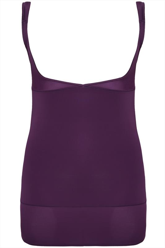 Purple Underbra Smoothing Slip Dress With Firm Control