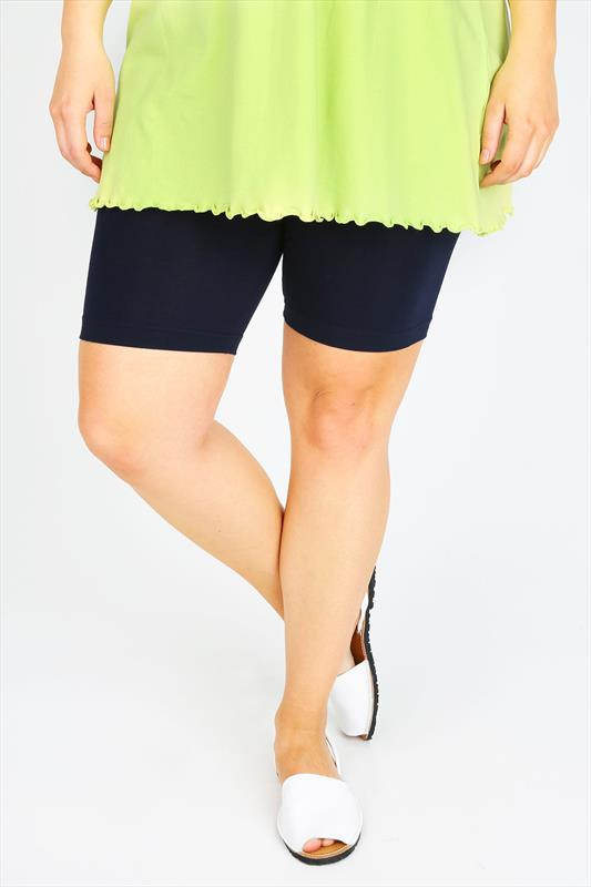 Navy Legging Shorts