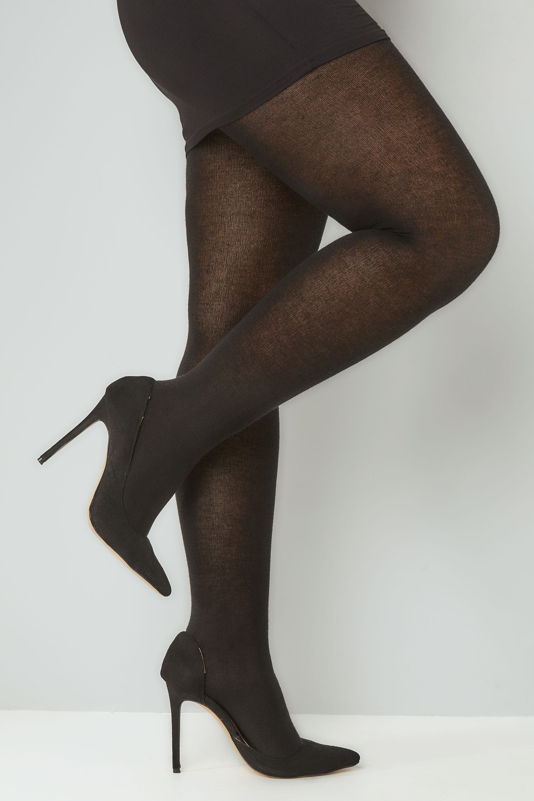 760a7f88fe2e8 Black 200 Denier Super Soft Thick Tights Plus Size 16 to 32