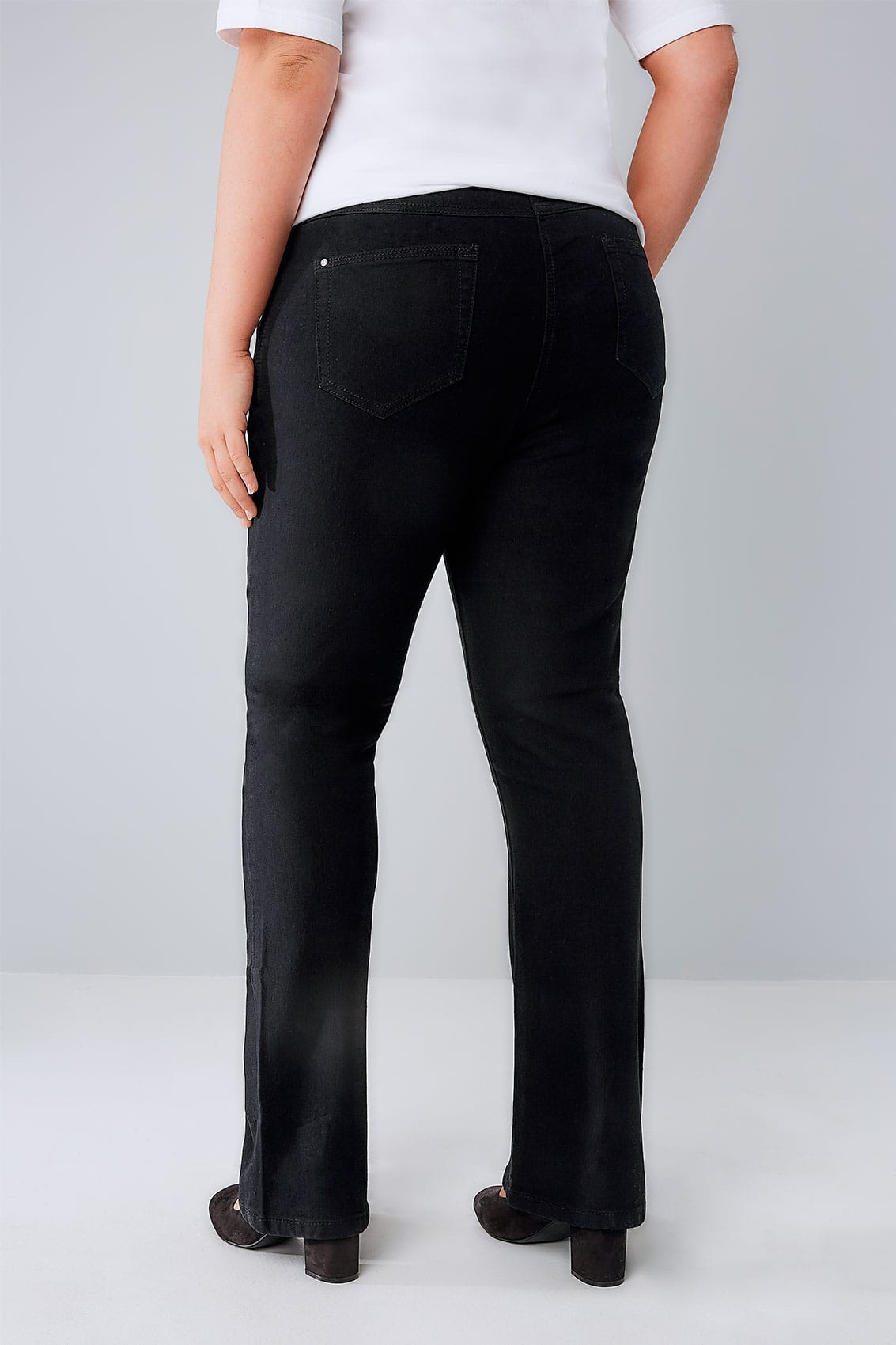 A basic, pull-on knit pant with modern bootcut legs. Easy-care, easy-wear, casual to sophisticated. This wrinkle-resistant pant drapes beautifully on the body and holds its shape and color.