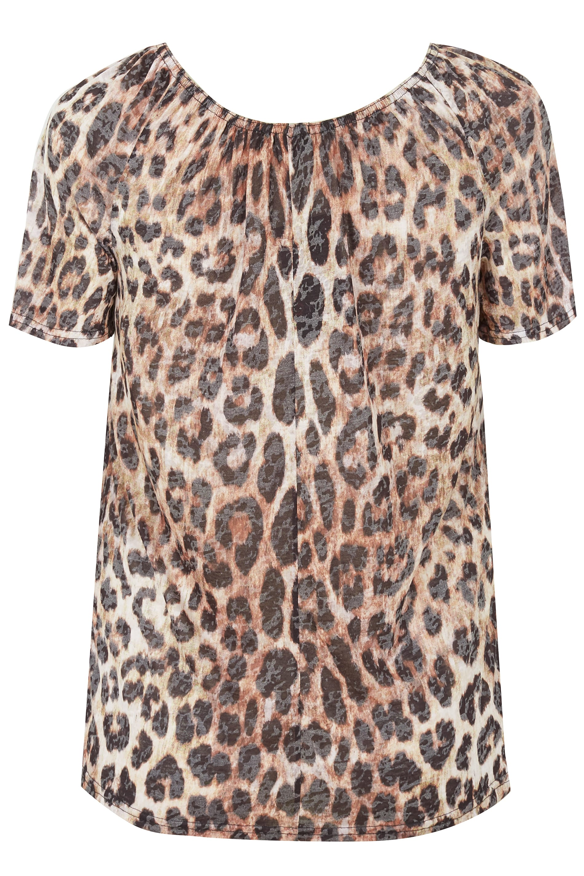 7da219468838 Leopard Print Gypsy Top, plus size 16 to 36