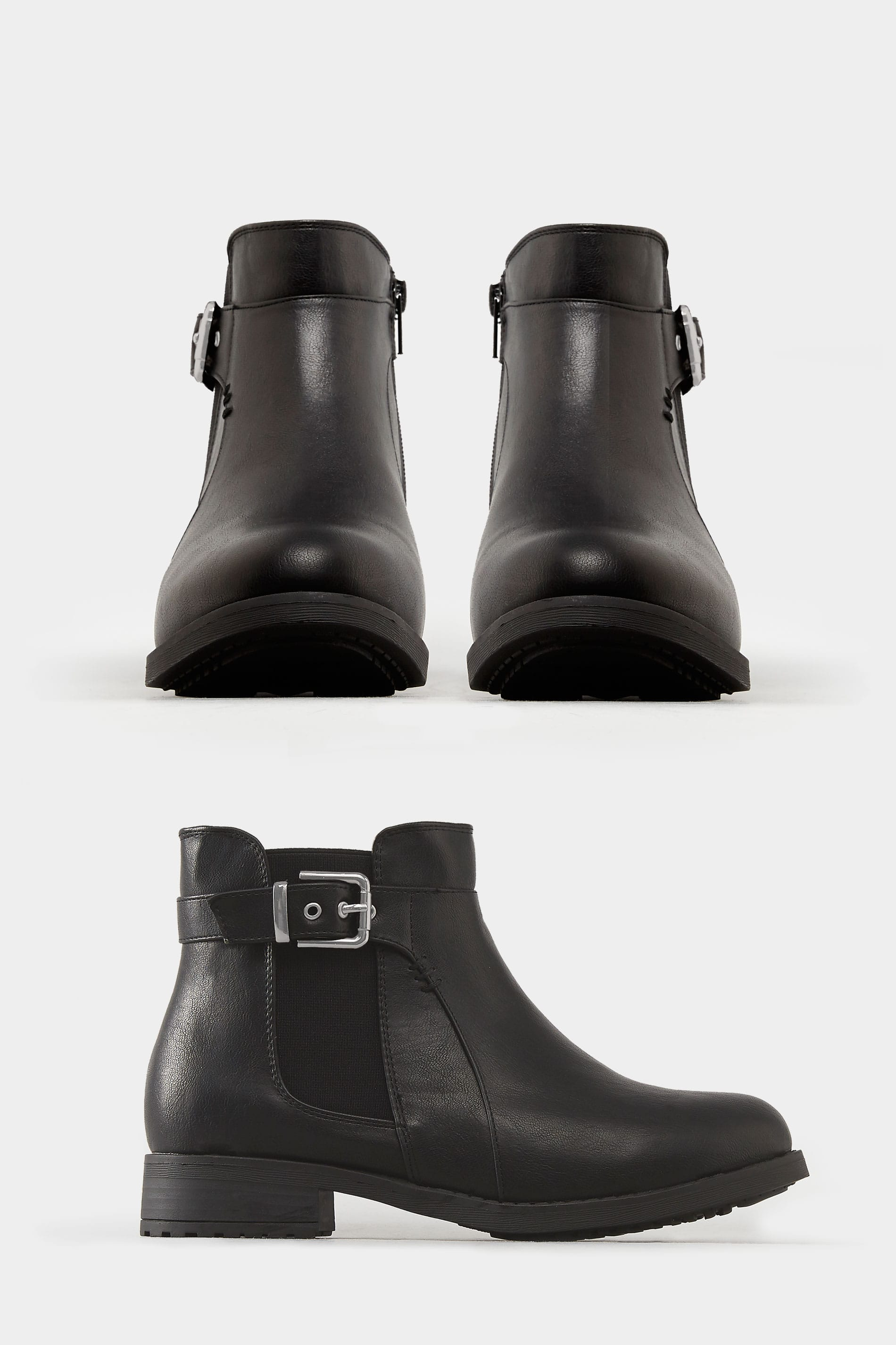 8bc468f8df8 Black Chelsea Ankle Boot In EEE Fit