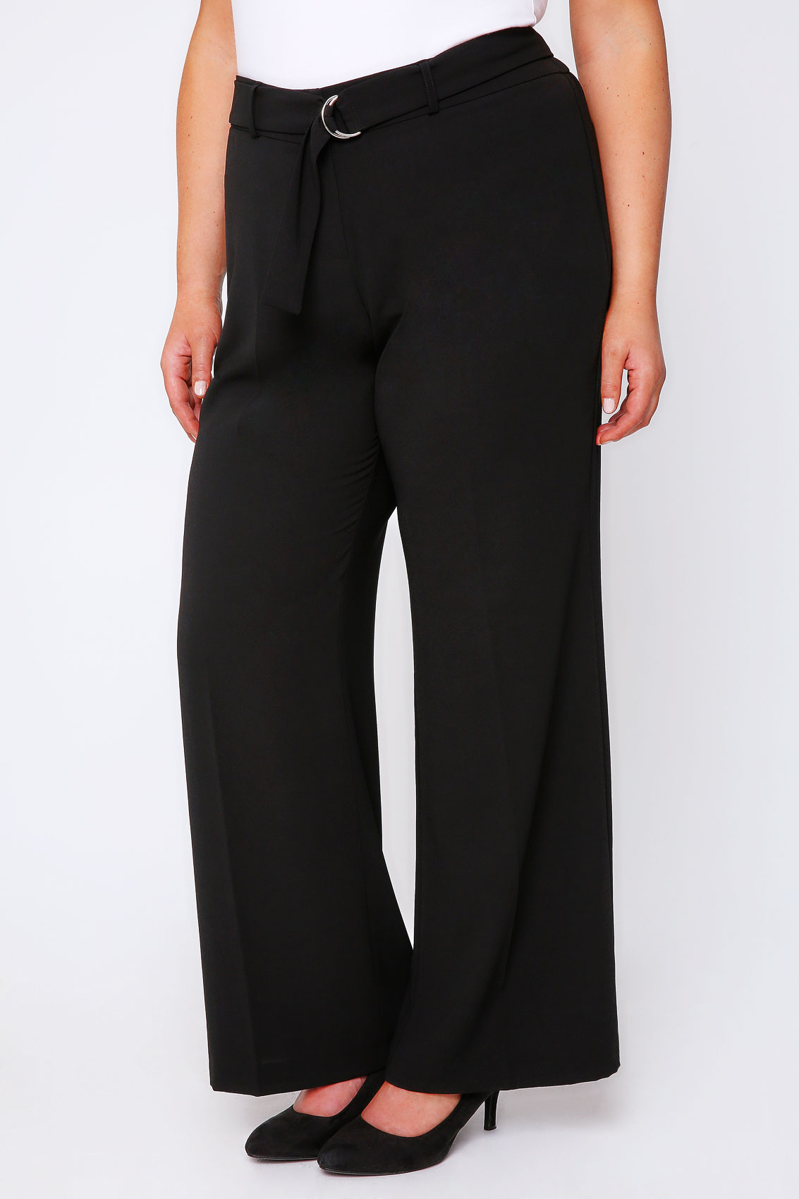 Product Description: Featuring a soft light gray material, a wide-leg fit, high waist and hidden side zip closure, these ultra-chic palazzo trousers are perfect for showing off your waist and peach.