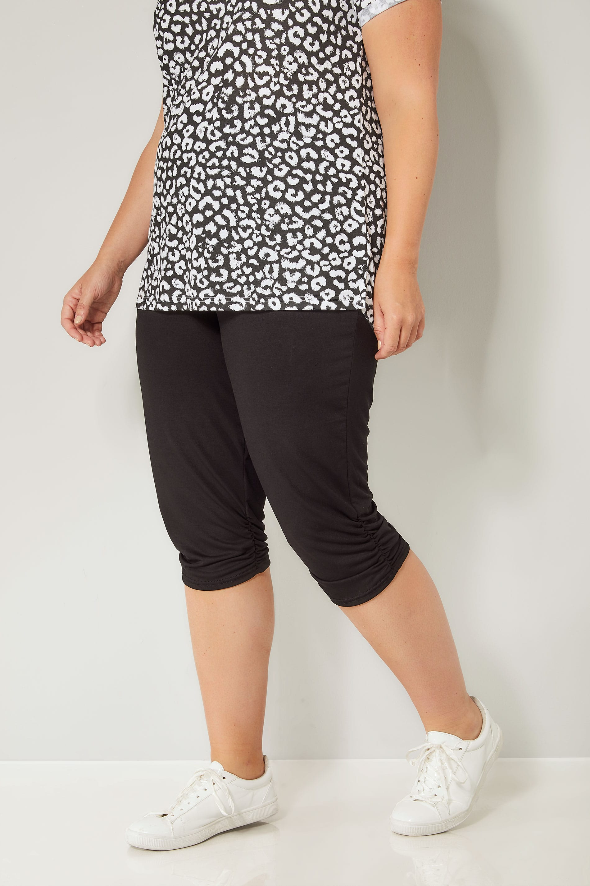 Rooms: Black Cropped Harem Trousers, Plus Size 16 To 36