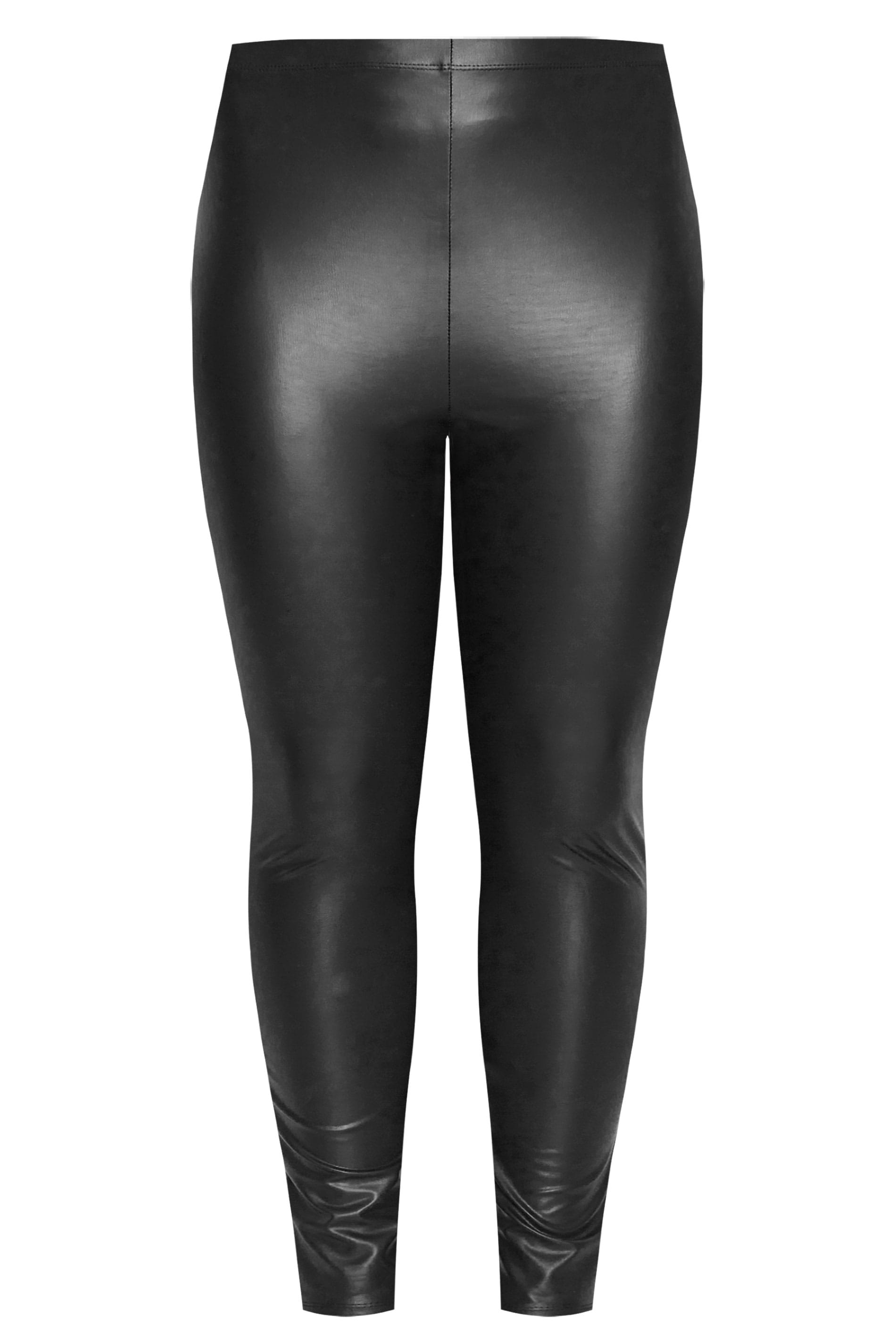 8687ec621ca1 Plus Size Black Faux Leather Leggings | Sizes 16 to 36 | Yours Clothing