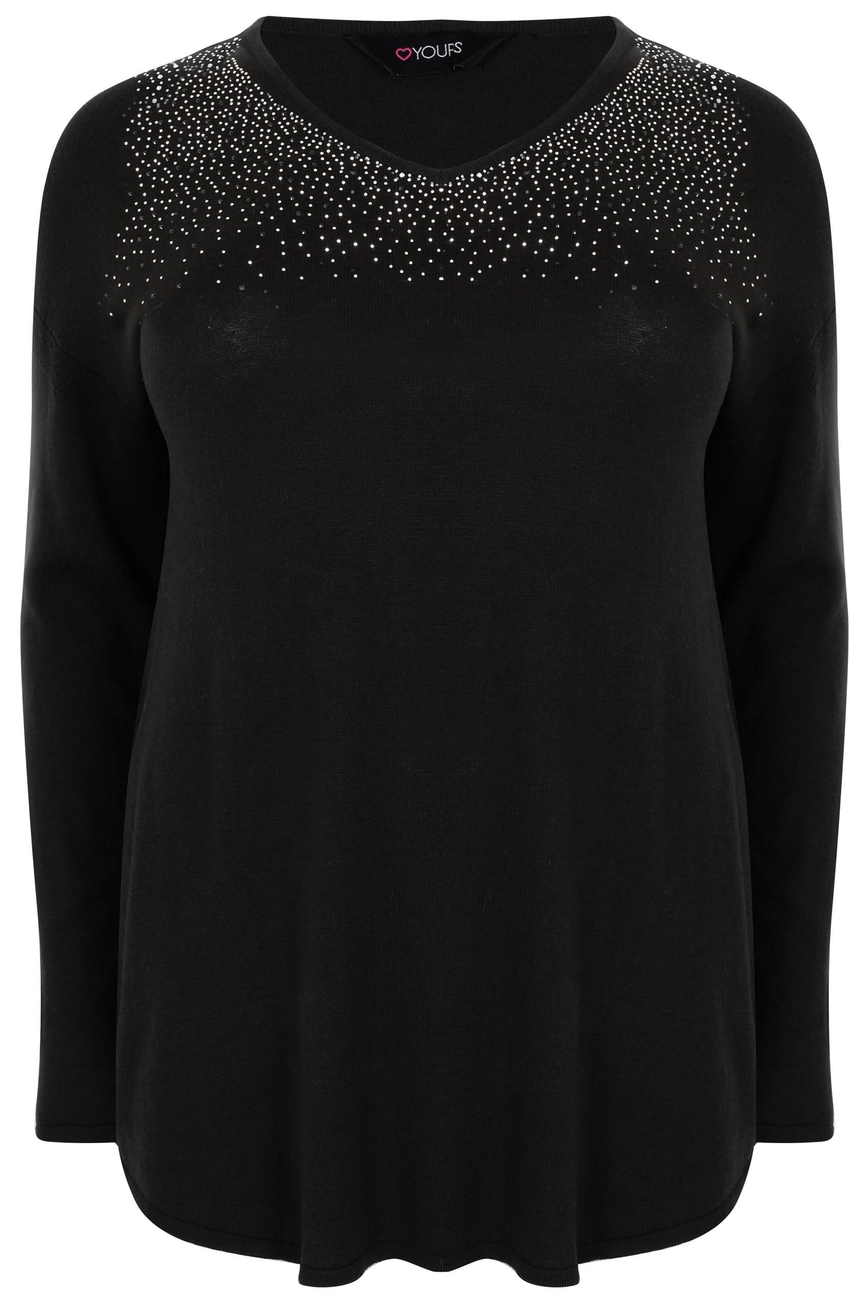 Hover over the images above to enlarge. Black Fine Knit Jumper With ... 5ab3597fdc18