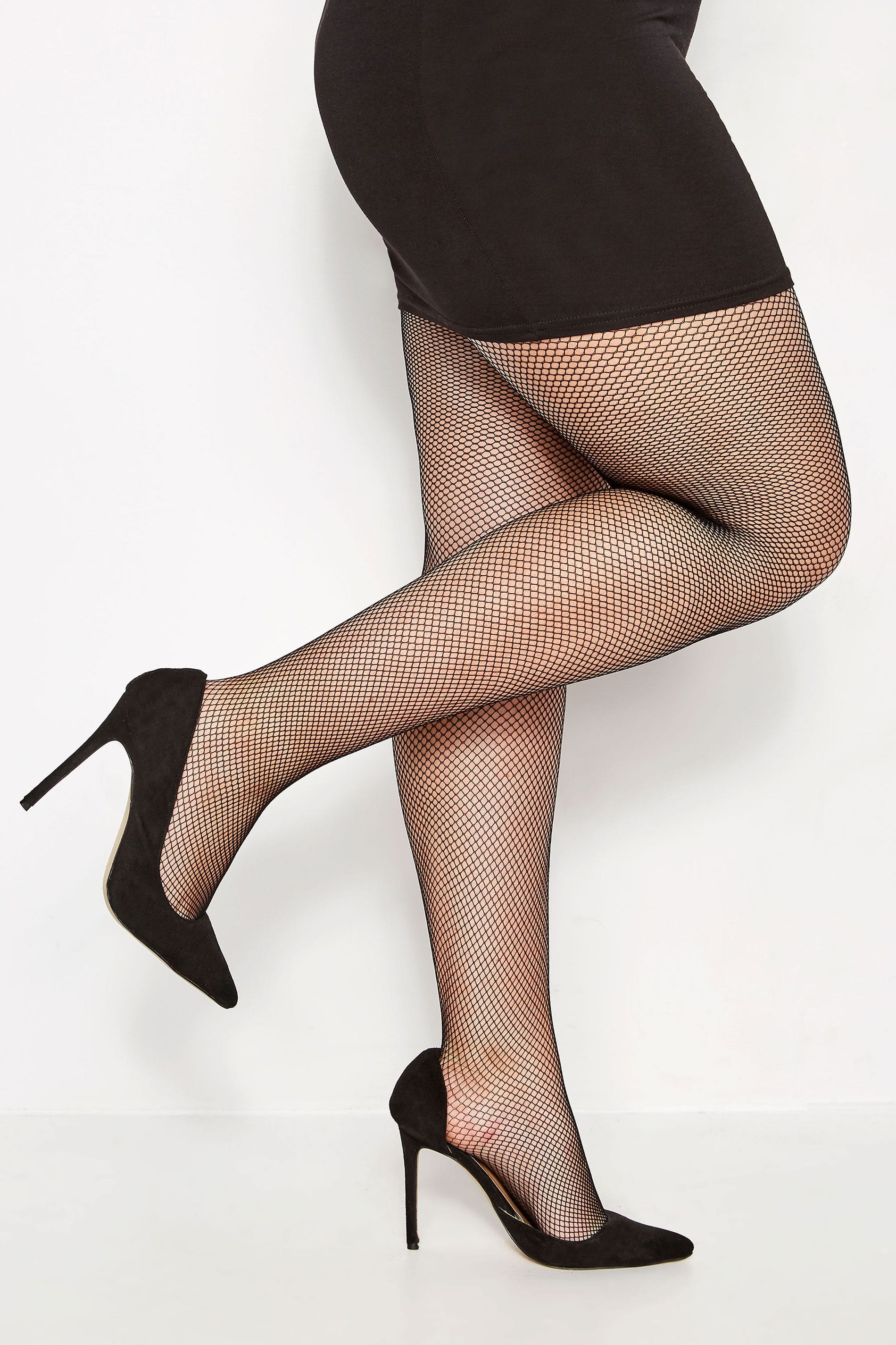 41a22dad04217 Black Fishnet Tights, Plus size 16 to 32