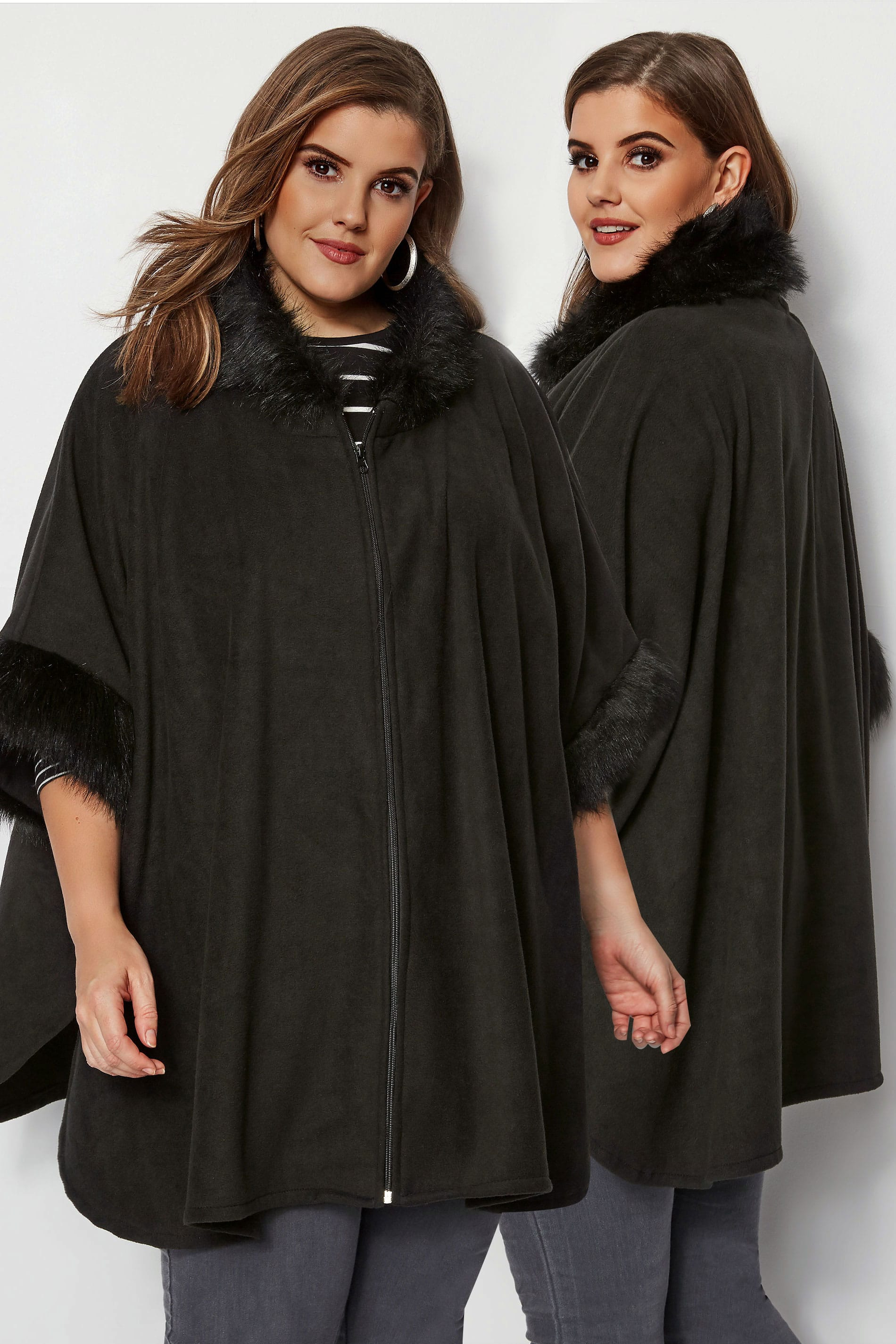 are cover letters necessary black fleece wrap with faux fur trim plus size 16 to 32 41213