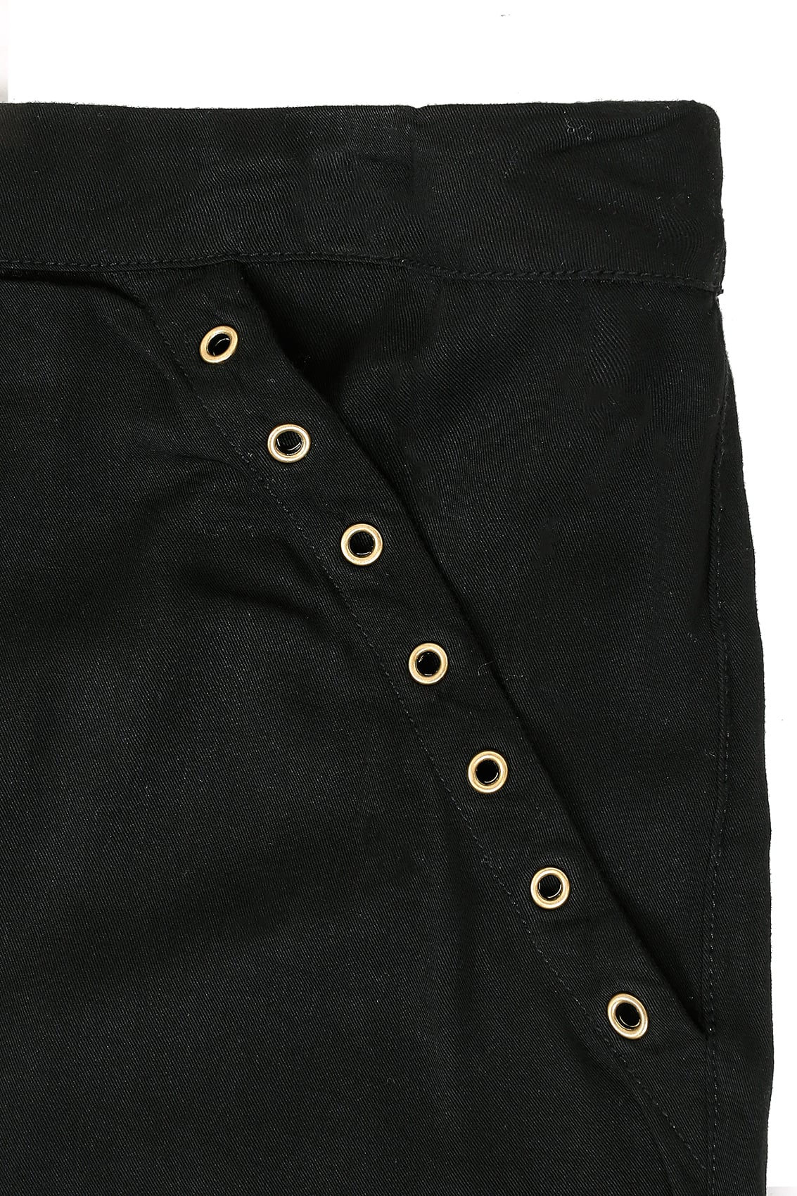 Black Harem Trousers With Gold Eyelet Detail & Pockets ...