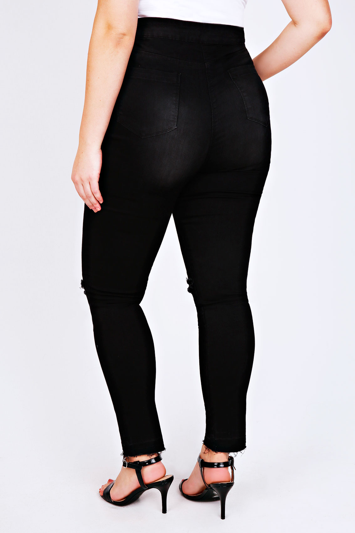 Find great deals on eBay for black high waisted ripped jeans. Shop with confidence. Skip to main content. eBay: Women's Plus Size High Waisted Ripped Knee Skinny Jeans Black. Brand New. $ Buy It Now +$ shipping. Women High Waisted Short Mini Jeans Ripped Jeans Shorts Mini Shorts Sexy Ladies. Brand New · Unbranded. $