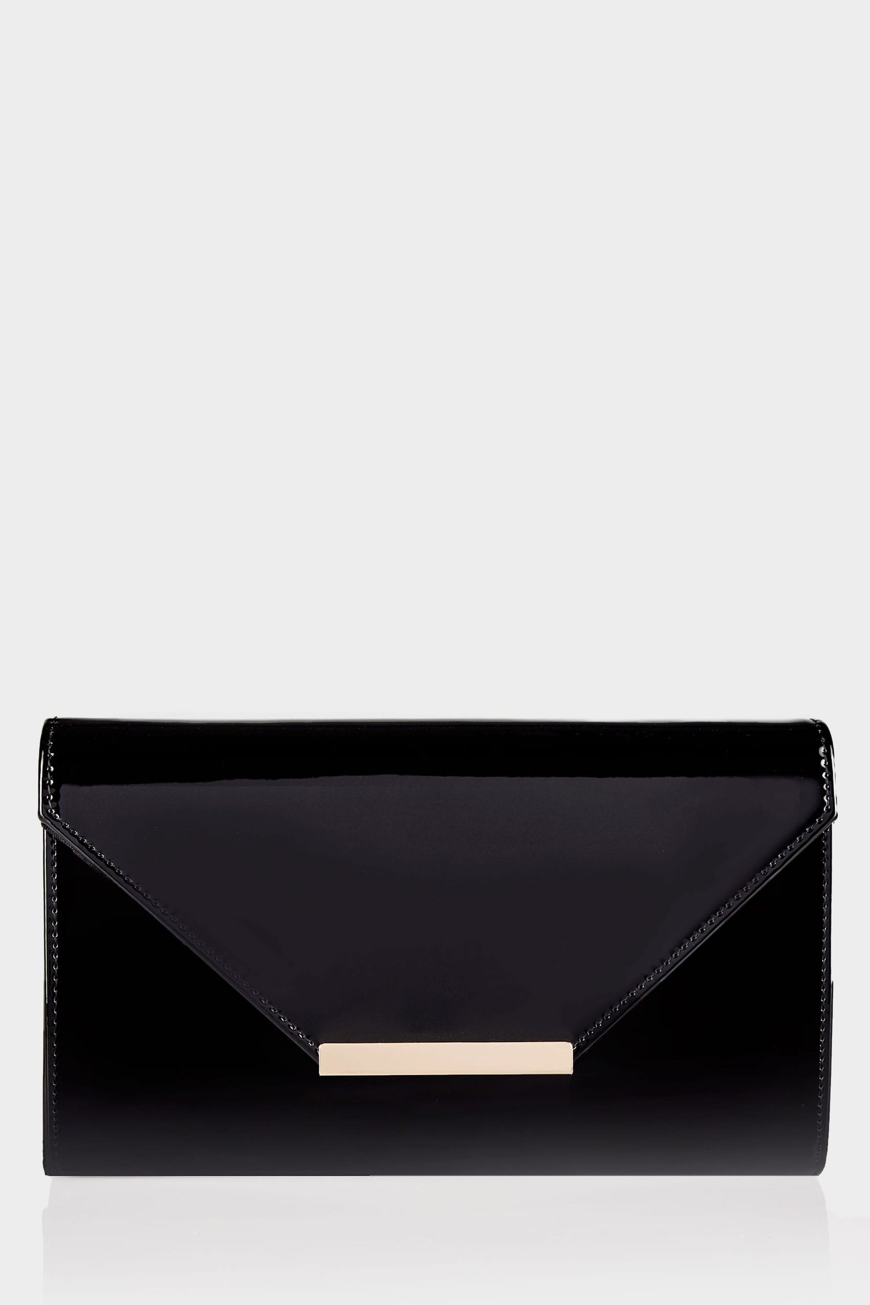 Schwarze clutch tasche mit schultertr ger for Terms and conditions template for online shop